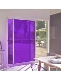 Film adhésif couleur violet ultra transparent