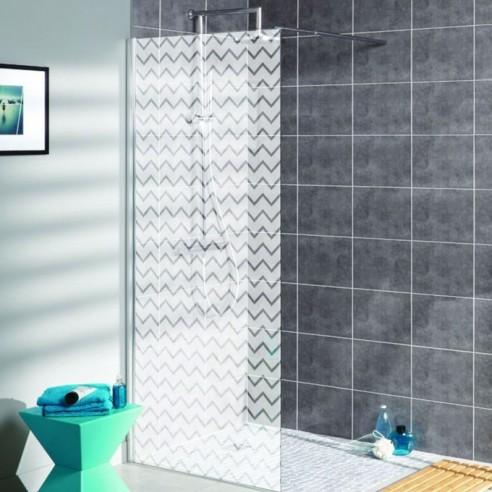 Sticker vénitien dépoli paroi de douche