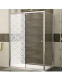Sticker formes géométriques dépoli paroi de douche