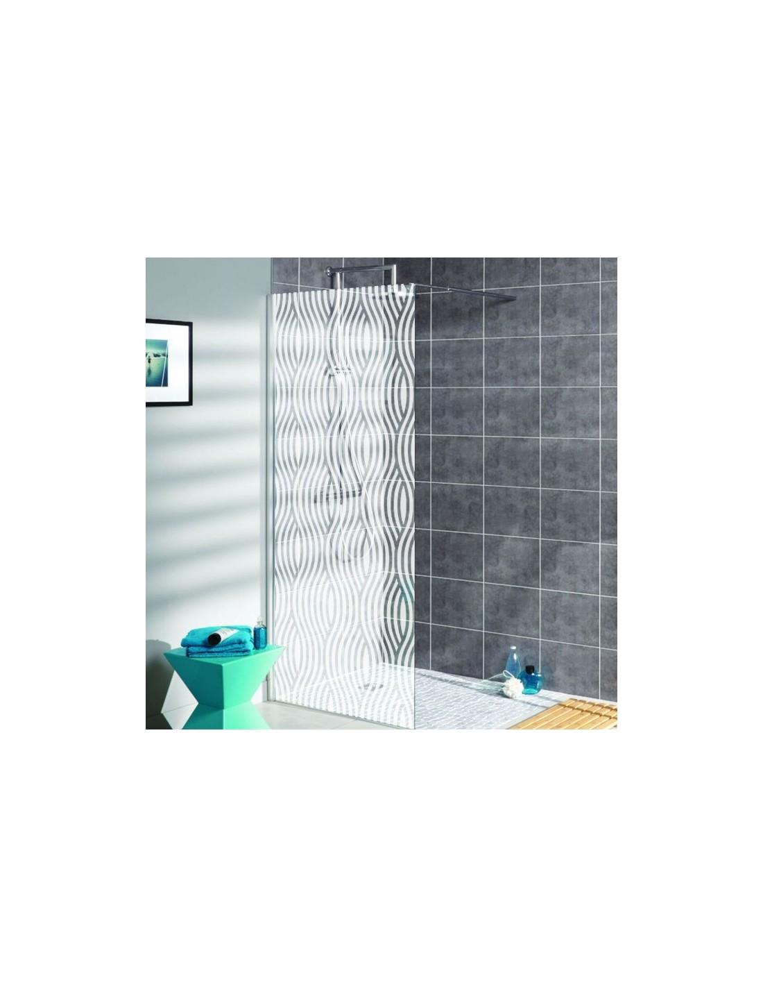 sticker vagues d poli sabl pour d coration paroi de douche pas cher. Black Bedroom Furniture Sets. Home Design Ideas