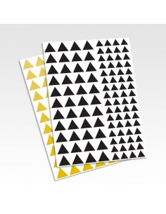 Planche stickers triangles