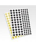 Planche stickers étoiles