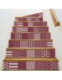Kit 5 stickers motifs décoratifs contremarches d'escaliers