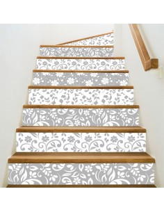 Kit 5 stickers motifs floraux contremarches d'escaliers
