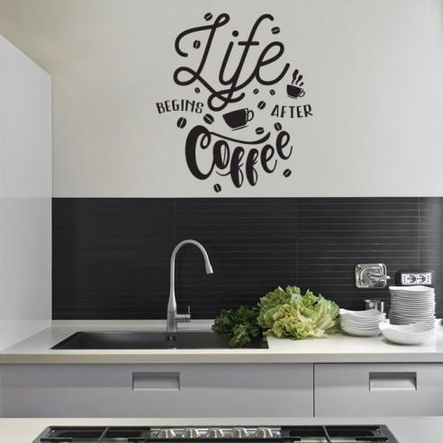 Sticker déco cuisine coffee