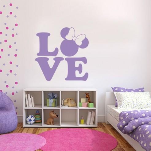 Sticker love Minnie