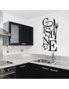 Sticker cuisine fourchette et couteau
