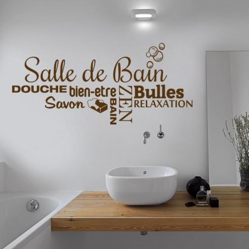 Sticker Deco Theme Zen Bien Etre Stickers Muraux Pour Salle De Bain