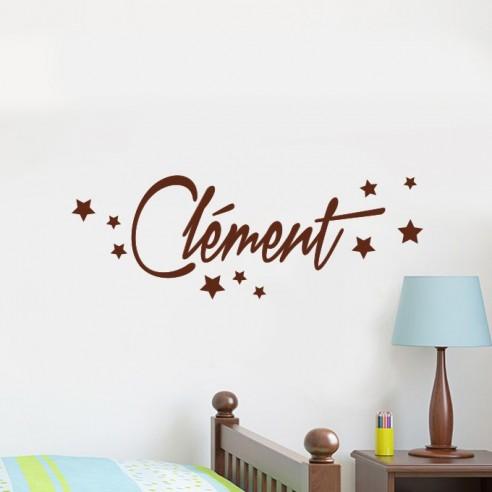 Sticker prénom personnalisé avec étoiles