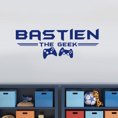 Sticker prénom personnalisé gamer