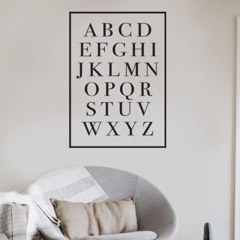 Sticker alphabet encadré