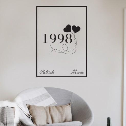 Sticker date de rencontre amoureuse encadré