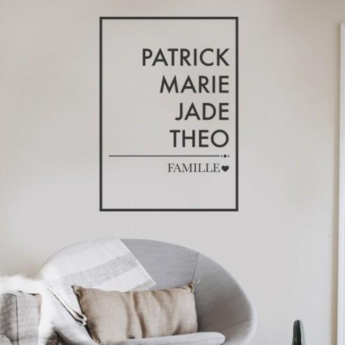 Sticker avec date de naissance famille