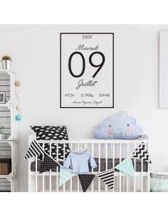 Sticker naissance personnalisé