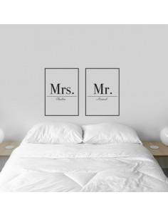 Sticker personnalisé couple encadré