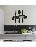 Sticker cuisine fourchette couteau
