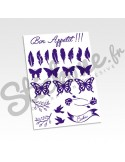 Stickers cookeo plumes et papillons