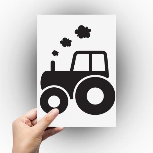 Sticker tracteur agricole