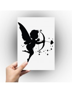 Sticker ange cupidon