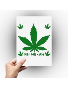 Sticker feuille de cannabis