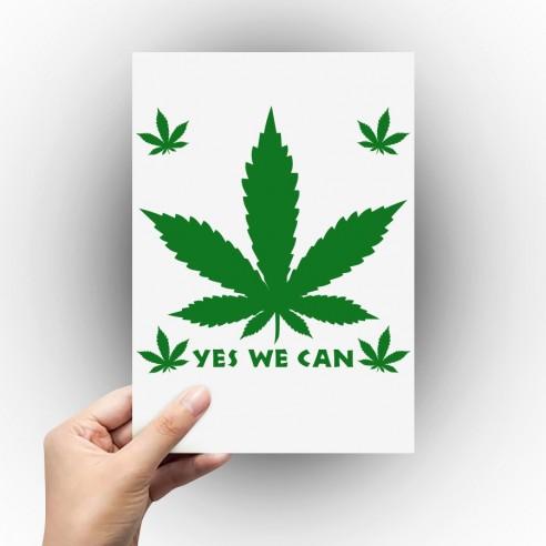 Sticker feuille de cannabis