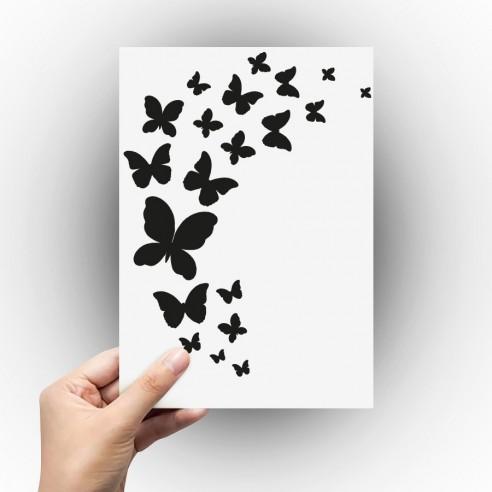 Sticker envole de papillon