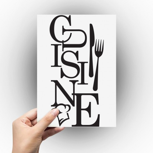 Sticker texte cuisine