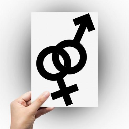 Sticker symbole homme femme