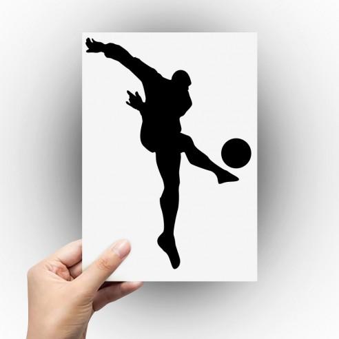 Sticker joueur de foot tir