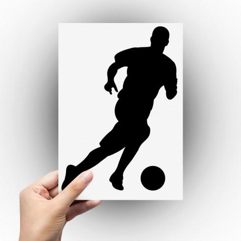 Sticker joueur de foot trible