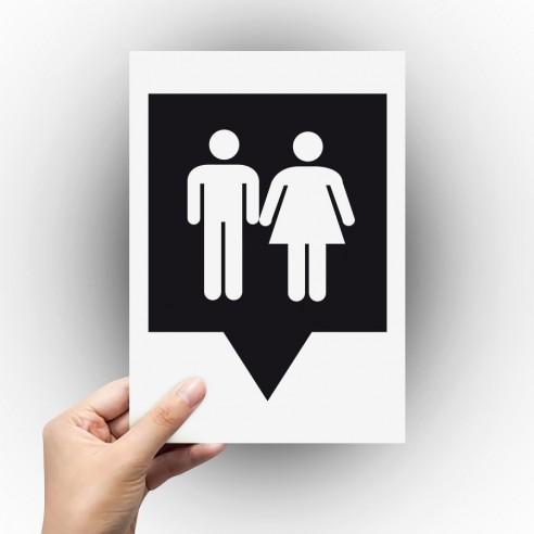Sticker logo toilettes