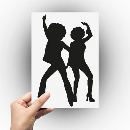 Sticker danseurs disco