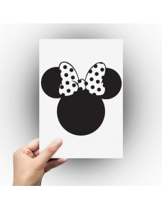 Sticker silhouette tête de Minnie