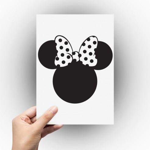 Sticker silhouette tête de Minnie
