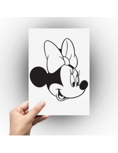Sticker tête de minnie profil