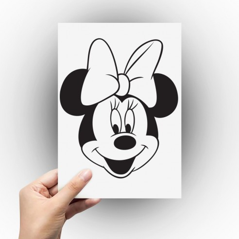 Sticker tête de Minnie