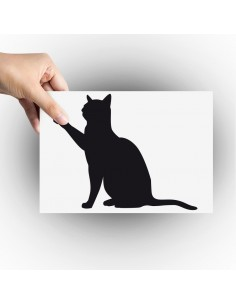 sticker chat patte en l'air