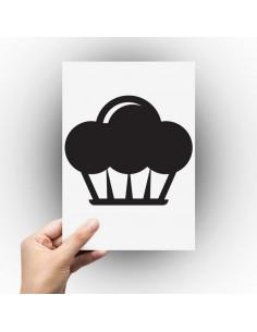 Sticker gâteau cupcake