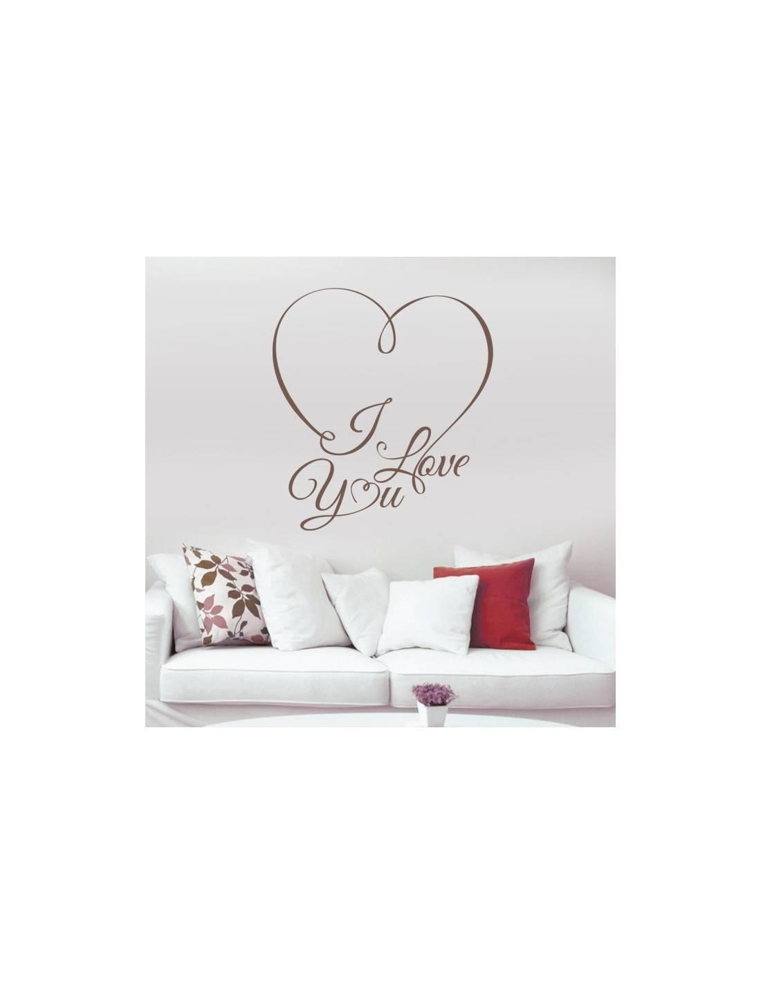 Stcikers love heart sticker d co th me amour romantique - Stickers muraux personnalise ...