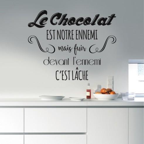 Sticker le chocolat est notre ennemi