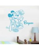 Sticker Mickey sport personnalisé