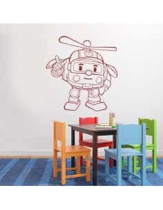 Sticker robocar poli