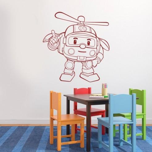 Sticker robocar poli