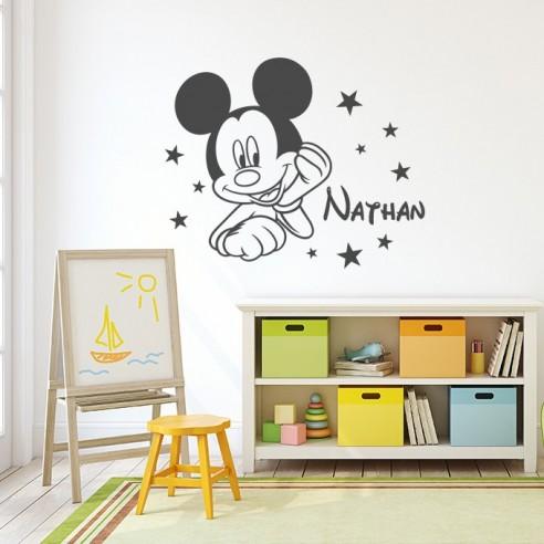 Sticker Mickey personnalisé avec prénom