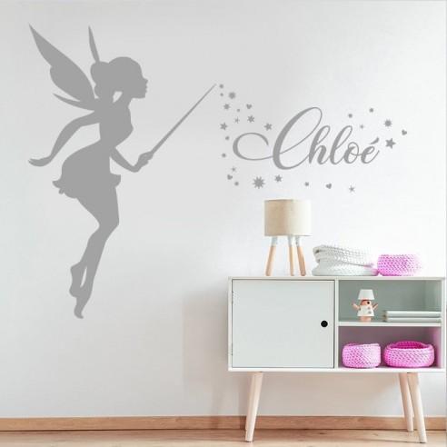 Sticker fée magique avec prénom