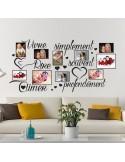 Sticker photos vivre simplement