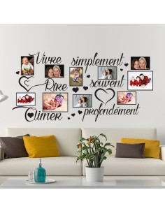 Sticker photos vivre simplement
