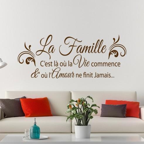 Stickers Citation Thème Famille Et Amour La Famille C Est Là Où