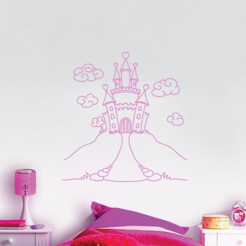 Sticker château de princesse