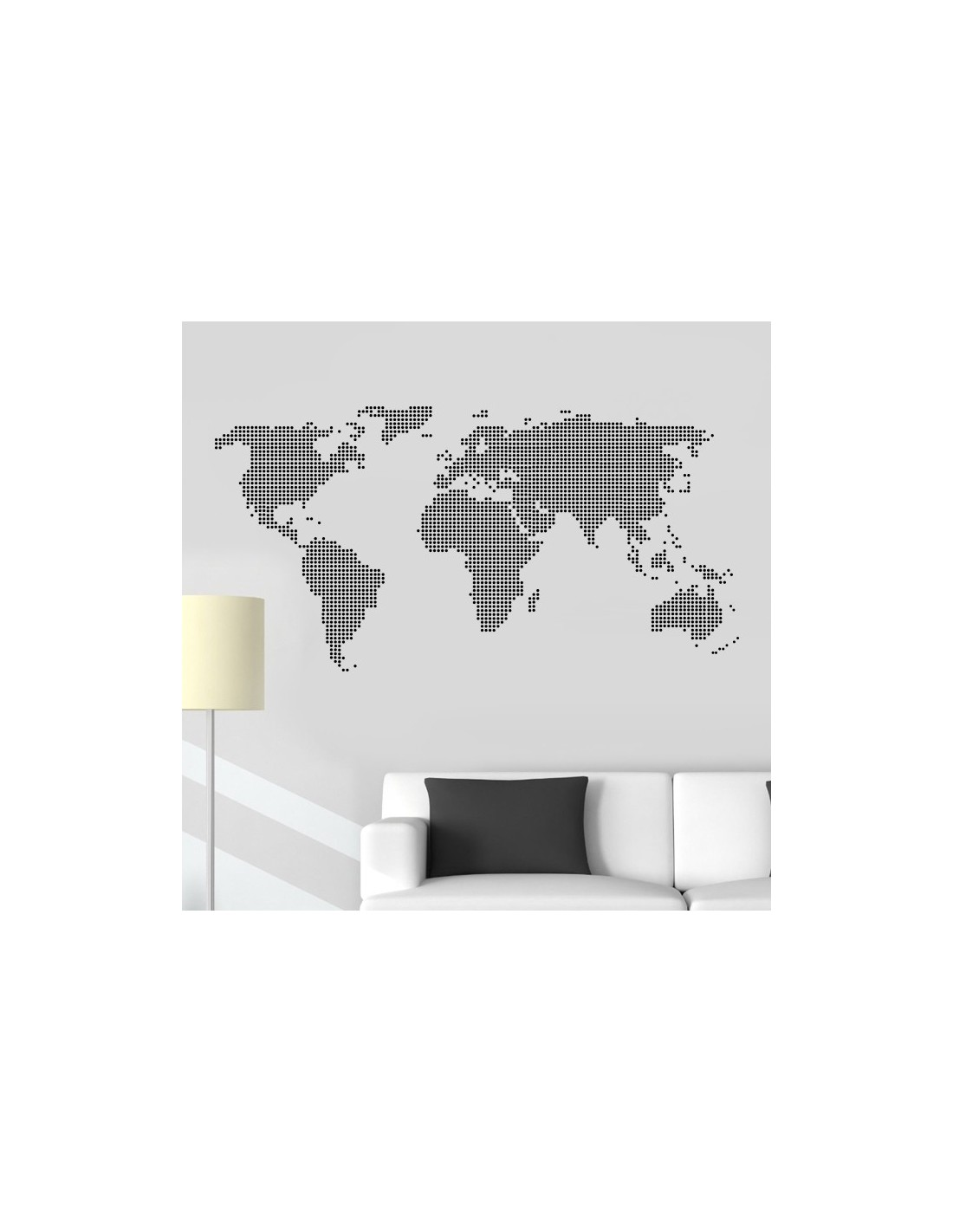 sticker carte du monde stickers muraux design originaux. Black Bedroom Furniture Sets. Home Design Ideas